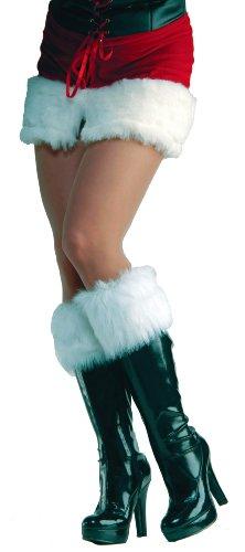 Forum Novelties Women's Sexy Santa Fur Boot Cuffs, White, One Size