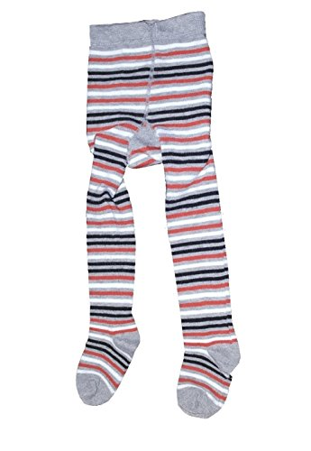 Bomio Toddlers Baby Boys Girls Cotton Warm Tights, Various Patterns and Sizes Available (6-12m, Gray-Striped)