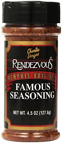 Charlie Vergos Rendezvous Famous Memphis Barbecue Dry Rub Seasoning (4.5 oz) (Rendezvous Seasoning compare prices)