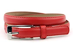 New Classy Womens Skinny Leather Belt with Shiny Buckle Many Colors S-XL (L (37