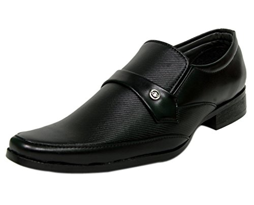Leather Chief Men's Synthetic Slip On Formal Shoes