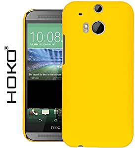 HTC One (M8) for Windows Case, HOKO® Ultra Thin Rubberized Matte Hard Case Back Cover for HTC One (M8) for Windows (Yellow)