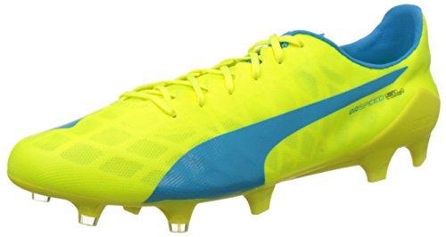 PumaevoSPEED SL FG - Scarpe da Calcio Uomo , Giallo (Gelb (safety yellow-atomic blue-white 05)), 39