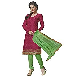 Unstitched cotton crush Chudidhars in gorgeous collections