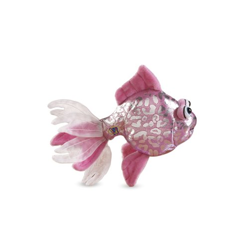 Lil'Kinz Mini Plush Stuffed Animal Pink Glitter Fish