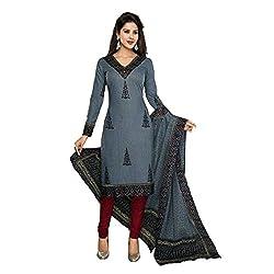 Stylish Girls Gray Cotton Dress Materials