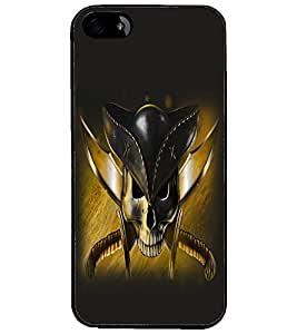 PrintDhaba Pirate's Skull D-1057 Back Case Cover for APPLE IPHONE 4 (Multi-Coloured)