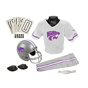 Kansas State Wildcats Kids Youth Football Helmet and Uniform Set by Franklin