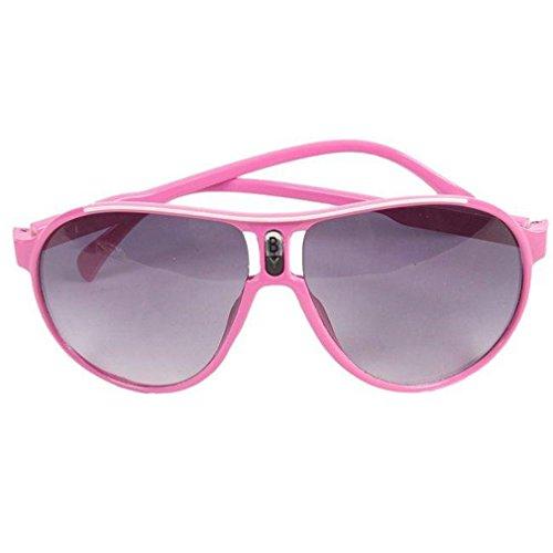 Hangqiao Baby Kids Jungen M?dchen Sonnenbrille Anti-UV Brille Sport Kinder Sonnenbrille, Rosa