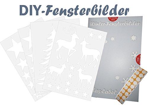 fensterbild als diy bastelbogen aus karton weihnachten. Black Bedroom Furniture Sets. Home Design Ideas