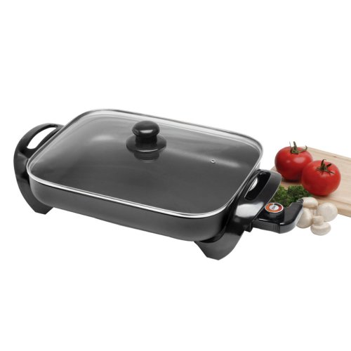 Maxi-Matic Maxi-Matic Elite Gourmet 15 In. Electric Skillet With Glass Lid, Black