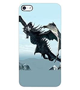 ColourCraft Dragon Design Back Case Cover for APPLE IPHONE 4