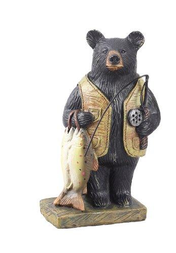 Young's Resin Fishing Bear Figure, 5-Inch