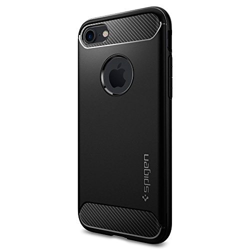 iPhone 7 Case, Spigen® [Rugged Armor] Resilient [Black] Ultimate protection from drops and impacts for iPhone 7 (2016) - (042CS20441)
