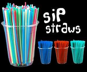 Amazon Assorted Neon Sip Straws Kitchen & Dining #1: 419HbhqeV8L SX300 QL70
