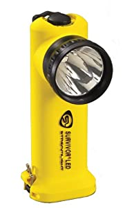 Streamlight 90541 Survivor 6-3/4-Inch LED Flashlight, Right Angle Light, Yellow