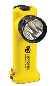 Streamlight 90541 Survivor 6-3 4-Inch LED Flashlight, Right Angle Light, Yellow by Streamlight