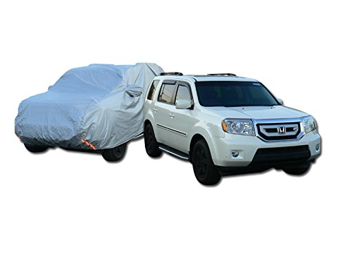 Universal Fit For Full-Size / Luxury SUV Car (Usually Length Of Car Not Exceeding More Than 5000mm). 4 LAYER UNIVERSAL WATERPROOF CAR COVER+MIRROR POCKET W/LIFE WARRANTY