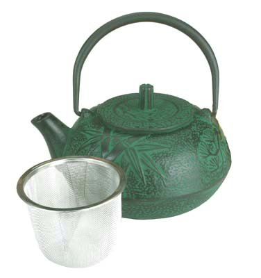 Large Japanese Cast Iron Teapot / Green Bamboo 20 OZ (Tea Cast Iron Set Large compare prices)