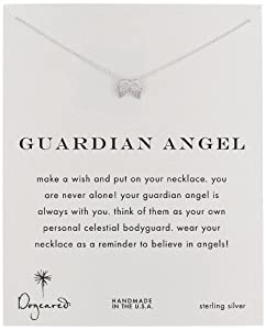 """Dogeared """"Reminders"""" Guardian Angel Wing Silver Charm Necklace, 18"""""""
