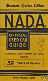 NADA Used Car Guide - Mountain States - March, 1992