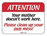 Laughter Revolution Sign Mother Doesn't Work Here (Pack of 5)