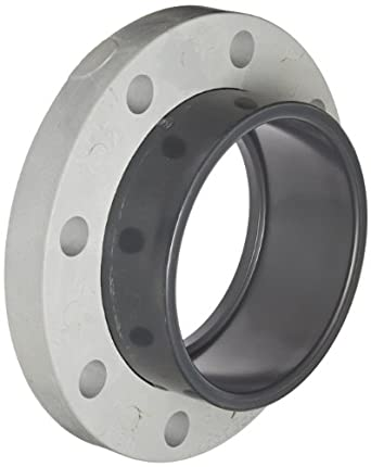 """Spears 854-060 Glass-Filled PVC Pipe Fitting, Van Stone Flange, Class 150, Schedule 80, 6"""" Socket"""