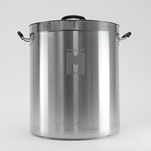 MegaPot 1.2 Stainless Steel Brew Kettle Pot - 15 Gallon / 60 Quart (12 Gal Brew Kettle compare prices)