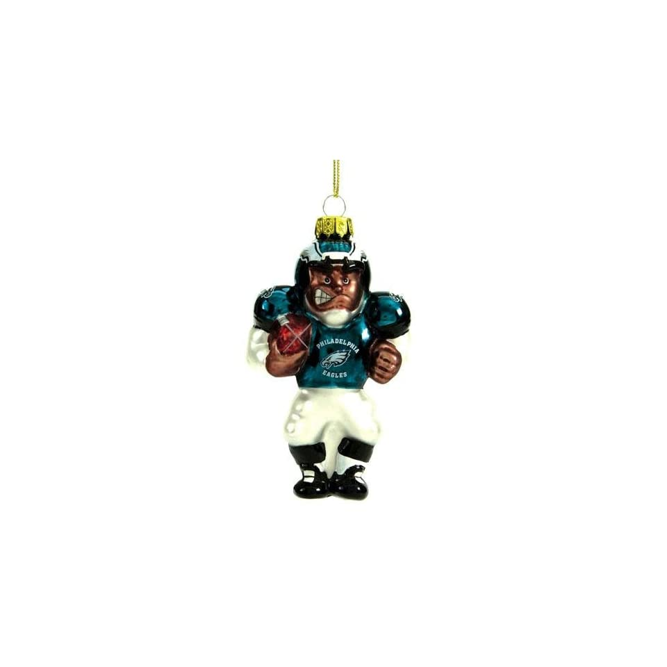 Philadelphia Eagles NFL Glass Player Ornament (5 African American inch