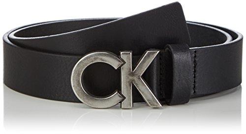Calvin Klein Jeans - LOGO BELT 10, Cintura da uomo, Nero (Black), 85 cm (Taglia produttore: 85)