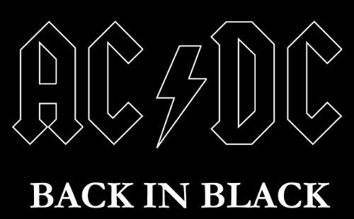 AC/DC Back in Black musica pregiato per auto adesivo per auto 12x 10cm
