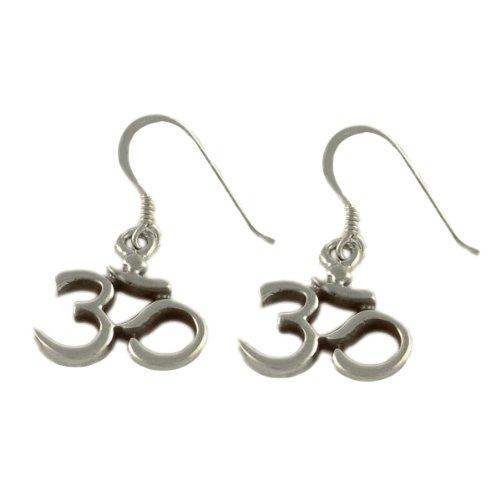 Sterling Silver OM (Aum) Classic Earrings