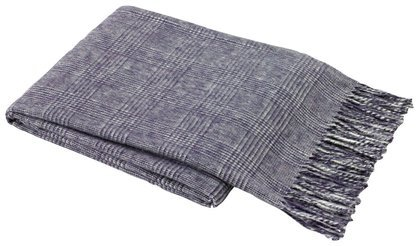 Lands Downunder Glen Plaid Italian Throw, Eggplant
