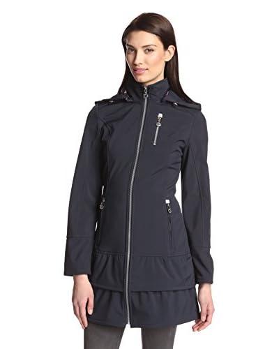 Betsey Johnson Women's Tiered Hem Softshell Jacket