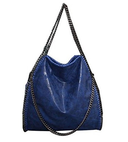 GetThatBag® Vienna Tote Falabella Bag catena d'argento Hardware Borsa delle donne - Rosso / Nero / Beige / Marrone / Blu / Rosa (Blu)