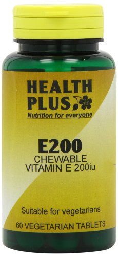 Health Plus E200 Chewable Vitamin E Supplement - 60 Tablets