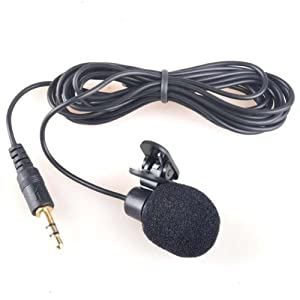 Neewer 3.5mm Hands Free Computer Clip on Mini Lapel Microphone (1x Lapel Microphone)