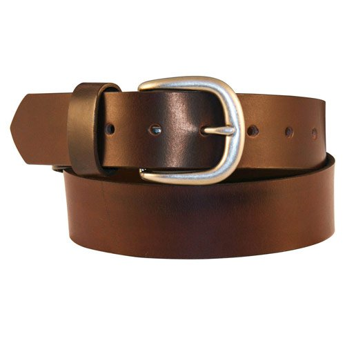 Boston Leather 1-12 1801 Leather Belt 32 Brown
