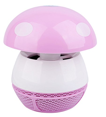 Allnice® High Effective Usb 5V Electronic Led Mosquito Killer Zapper Lamp Eco-Friendly Baby Photocatalyst Household Mosquito Insect Repellent Trap Bug Pest Fly Control For Baby The Pregnant (Pink, 6 Led With Usb Plug)