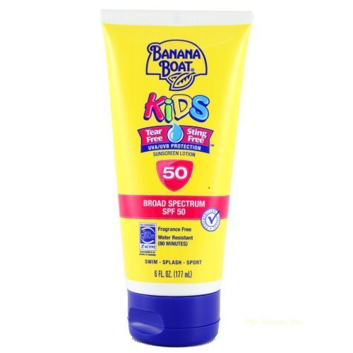 Banana Boat Kids Tear Free SPF 50 Sunscreen, 6FL oz - 1