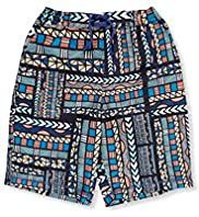Drawstring Aztec Print Swim Shorts