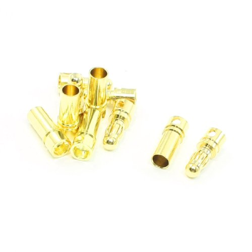5 Pairs Female Male Bullet Connector Plug Repair Part 3.5mm for RC DIY