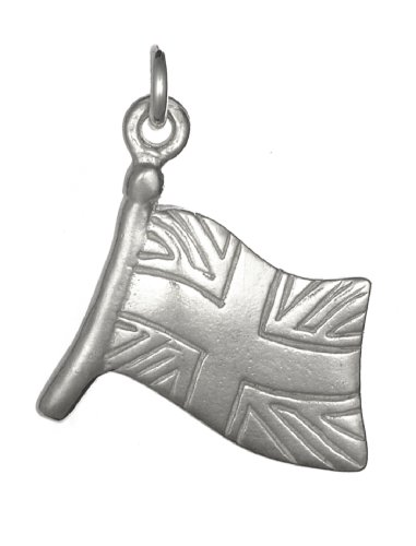 Dower & Hall, Charm Collection - Solid Sterling Silver Union Jack Charm