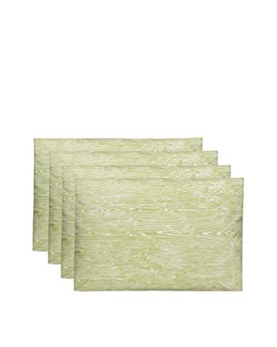 Split P Set of 4 Pistachio Wood Grain Placemats