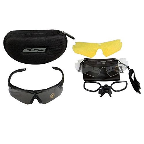Great Features Of ESS Crossbow 3LS Black Frame - 3 Lens System - Ballistic Eyeshield - 740-0387