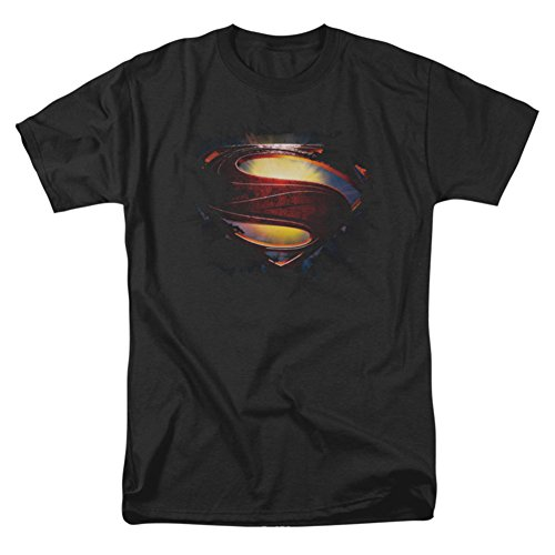 "Superman Man of Steel Grungy ""S"" Shield T-Shirt 2013 Movie T-Shirt"