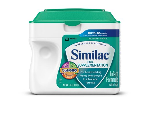 Similac For Supplementation Infant Formula with Iron, Powder, 23.2 Ounces (Pack of 4) (Packaging May Vary) - 1