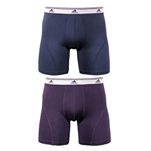 Adidas Men's Sport Performance Climalite Pack of 2 Boxer Brief, Assorted High Energy Urban Sky/Dark Violet, Large