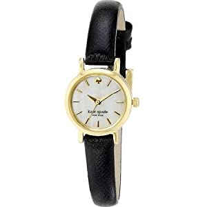 kate spade new york Women's 1YRU0536 Tiny Metro Analog Display Japanese Quartz Black Watch