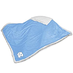 NCAA North Carolina Tarheels Sherpa Plush Blanket by Logo